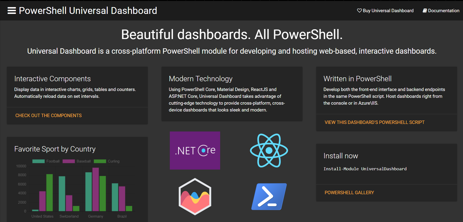 Universal Dashboard - Universal Dashboard